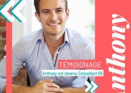Anthony a changé de métier pour devenir consultant RH